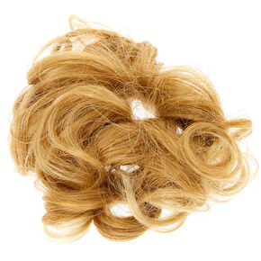 Curly Faux Hair Tie - Blonde,
