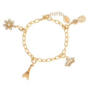 Gold Cross Bracelet Charm,