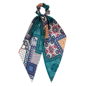 Patched Paisley Scarf Hair Scrunchie,