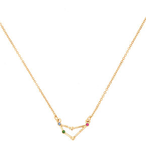 Gold Zodiac Constellation Pendant Necklace - Capricorn,