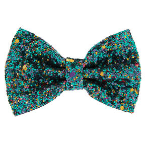 Mini Mermaid Cake Glitter Hair Bow Clip,
