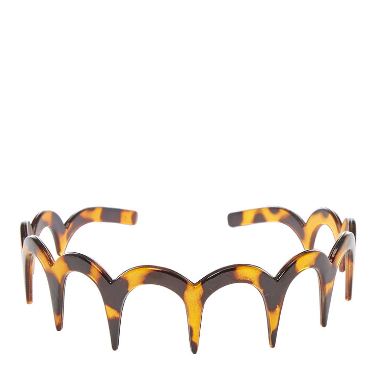 Tortoiseshell Scalloped Teeth Comb Headband,