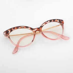 Blush Tortoiseshell Cat Eye Clear Lens Frames,