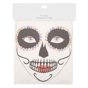 Day of The Dead Crystal Glitter Face Stickers,