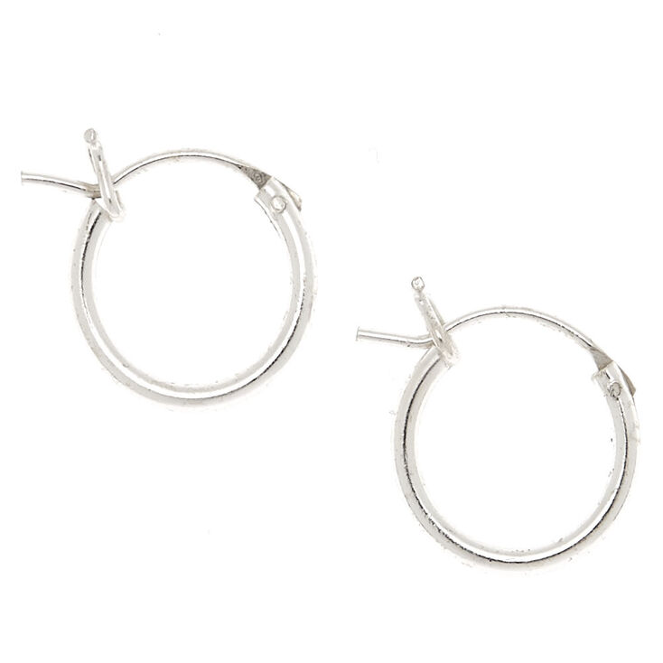 Sterling Silver Hinged Hoop Earrings,