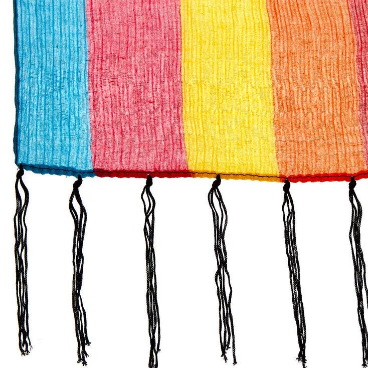 Day of The Dead Rainbow Fashion Scarf,