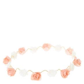 Gold Pink & Ivory Zig Zag Flower Crown,