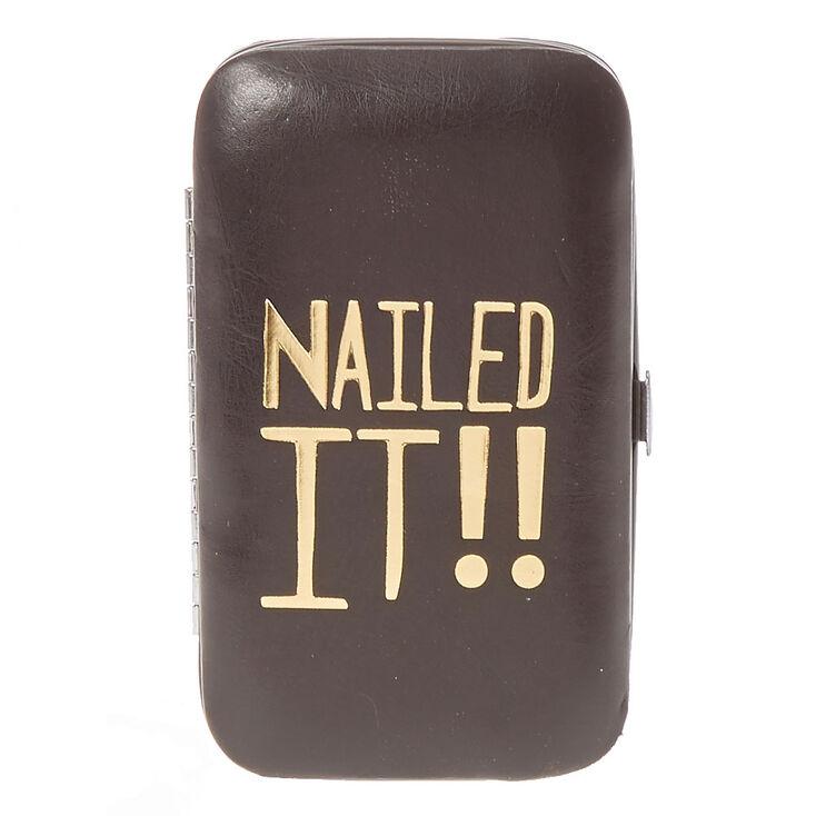 Nailed It Black Manicure Kit,