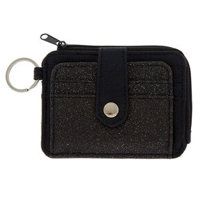 Glitter Coin Purse - Black,