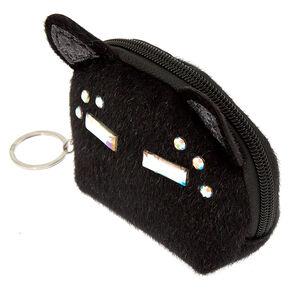 Fancy Fur Cat Coin Purse - Black,