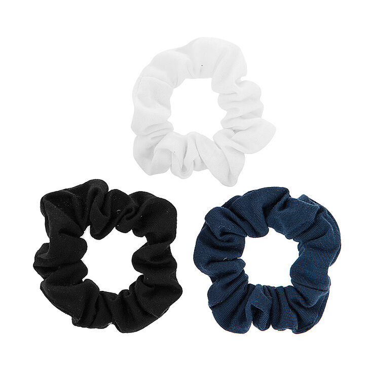 Black, White & Navy Jersey Scrunchies,