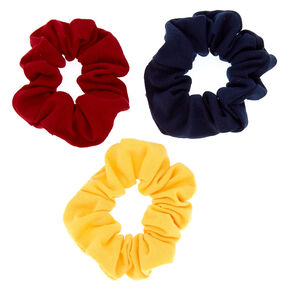 Preppy Girl Hair Scrunchies - 3 Pack,