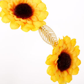 Sunflower Golden Leaf Flower Headband - Yellow,