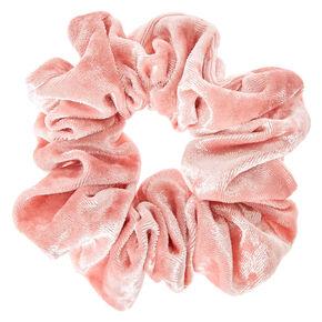 Velvet Hair Scrunchie - Pale Pink,