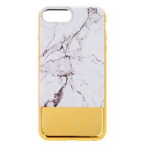 Marble & Gold Protective Phone Case - Fits iPhone 6/7/8 Plus,