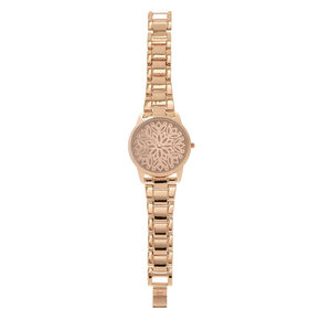 Rose Gold Filigree Design Watch,