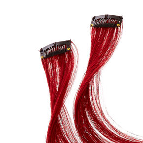 2 Pack Burgundy Clip On Extensions,