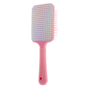 Holo Stud Paddle Hair Brush - Pink,