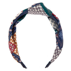 Patched Paisley Knotted Headband,