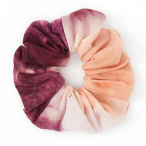 Medium Pink & Purple Tie Dye Hair Scrunchie,