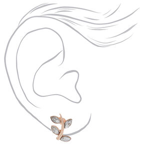 Rose Gold Party Mix Stud Earrings - 9 Pack,