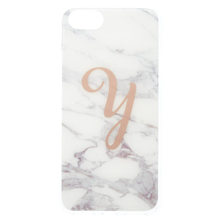 Marble Y Initial Phone Case - Fits iPhone 6/7/8/SE,