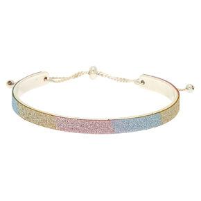 Glitter Cuff Bracelet - Rainbow,