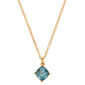 March Birthstone Pendant Necklace - Aquamarine,