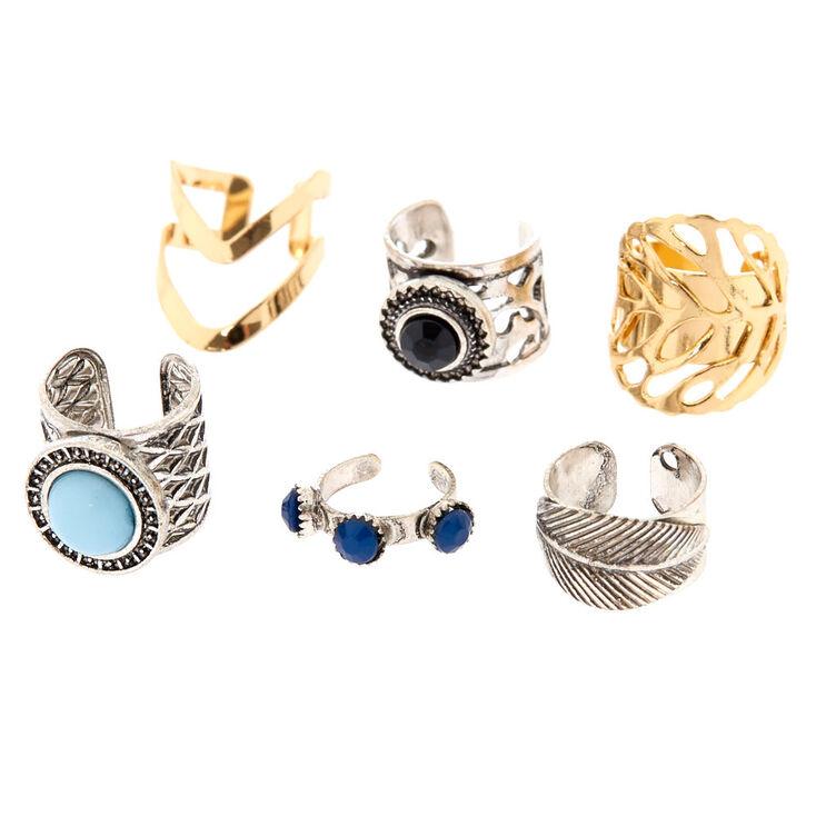 Gold & Silver Tone Tribal Ear Cuffs,