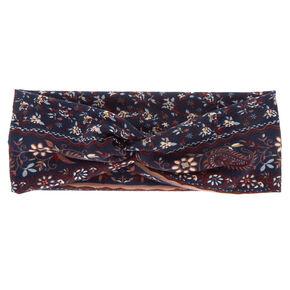 Boho Print Headwrap - Navy,