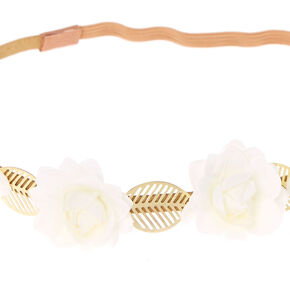 Gold Leaf Flower Headwrap,