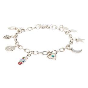 Silver Western Charm Bracelet,