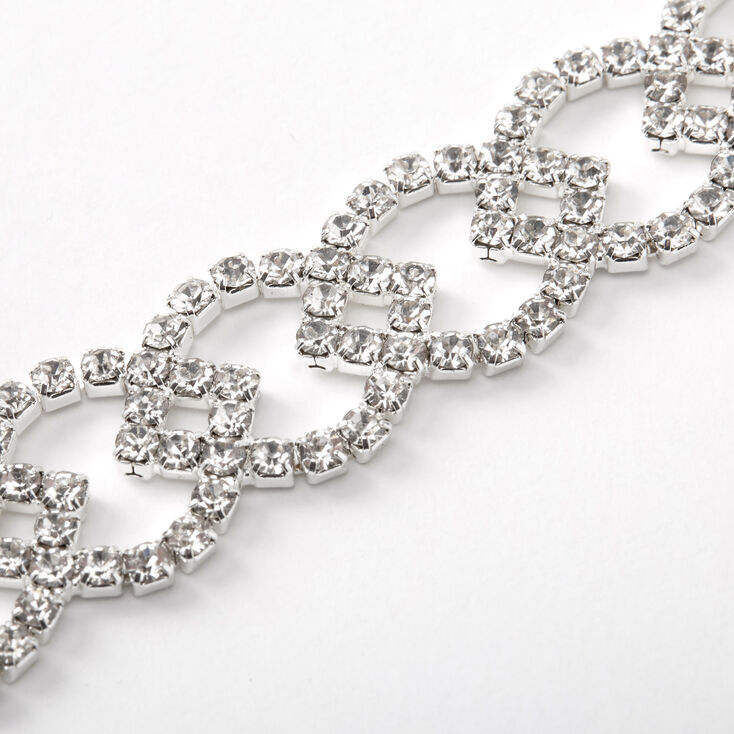 Silver Rhinestone Lemon Chain Bracelet,