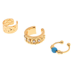 3 Pack Gold-Tone Ear Cuffs,