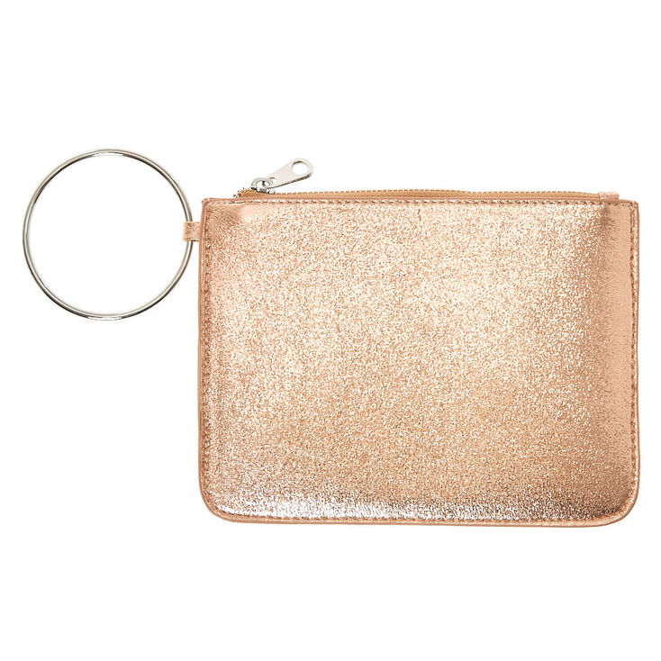 Metallic Rose Gold Ring Clutch,