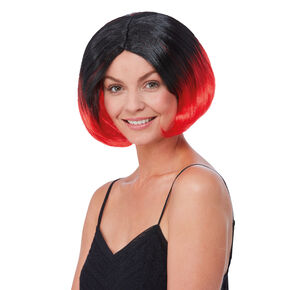 Black & Red Short Length Wig,