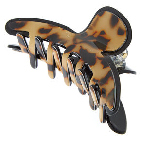 Tortoiseshell Resin Hair Claw - Brown,