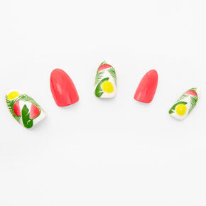 Coral Fruit Stiletto Faux Nail Set - 24 Pack,