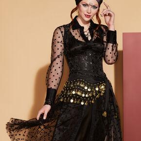 Fortune Teller Skirt Wrap - Black,