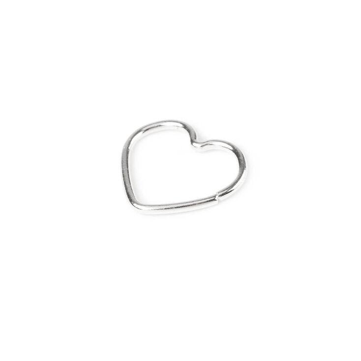 20G Sterling Silver Heart Hoop Rook Earring,