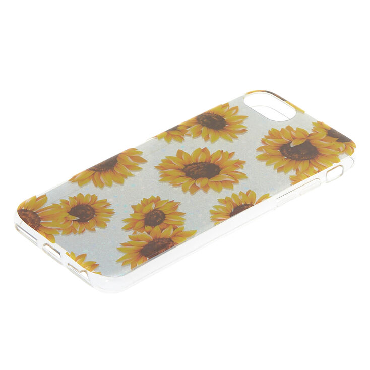 Silver Holographic Sunflower Phone Case - Fits iPhone® 6/7/8/SE,