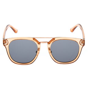 Square Brow Bar Sunglasses - Brown,