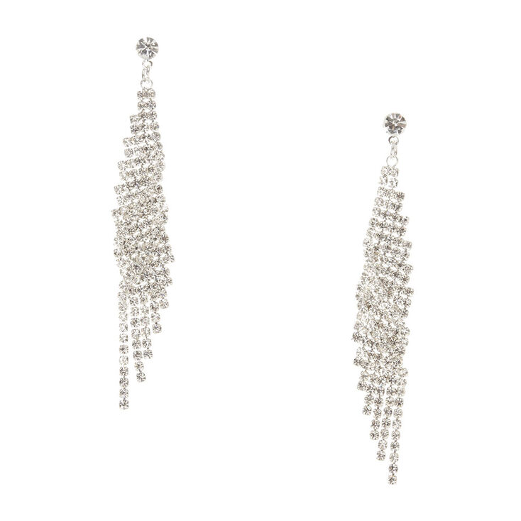Silver Lightning Mesh Earrings,