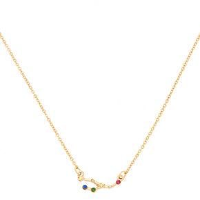 Gold Zodiac Constellation Pendant Necklace - Taurus,