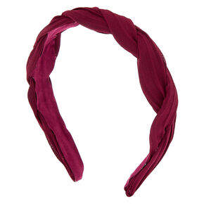 Chiffon Twisted Headband - Burgundy,