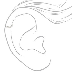 Silver 22G Coiled Cartilage Earring,