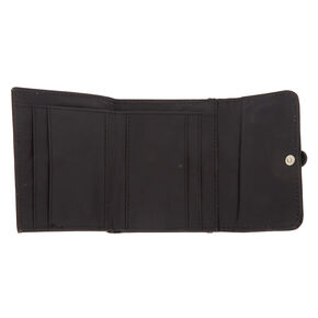Trifold Crochet Wallet - Black,