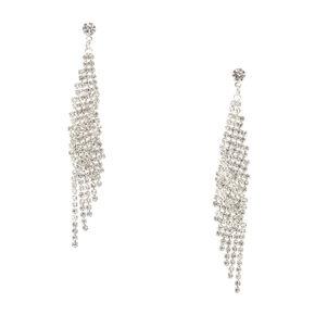 Silver Lightning Mesh Earrings,
