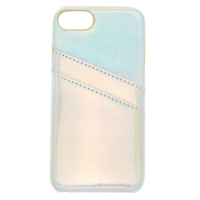 Holographic Card Pocket Phone Case - Silver,