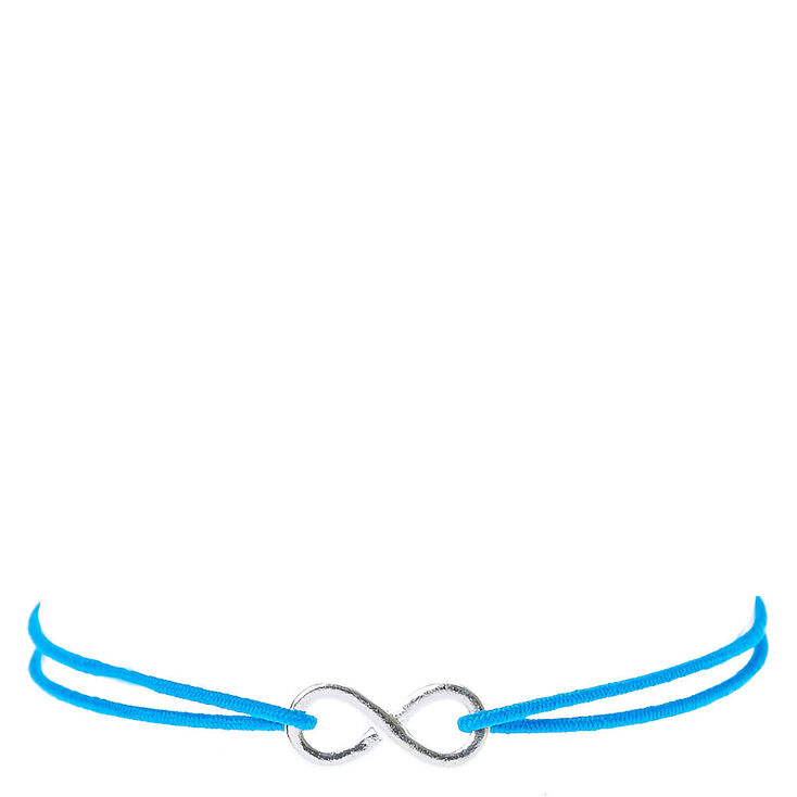 Blue Double Stretch Bracelet with Infinity Charm,
